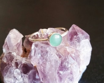 Aventurine Stacker Ring in Sterling Silver (MADE-TO-ORDER)