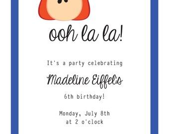 Madeline Party Invitation: printable