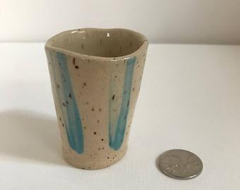 Tiny pottery tumbler or planter