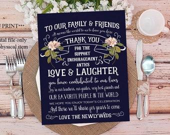 navy wedding thank you, printable thank you cards navy, wedding thank you, navy pink thank you, printable thank you cards, 7 x 5, favorite