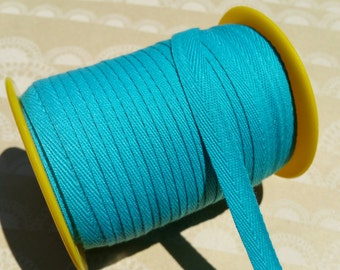 """TEAL Twill Tape Trim - Polyester Sewing Banners Bunting Shipping Packaging - 3/8"""" Wide - 10 Yards"""