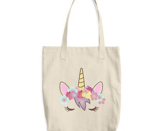 unicorn tote bag, unicorn gift, cotton tote bag, unicorn bag, tote bag, natural, unicorn face, unicorn gift, unicorn lover, unicorn party