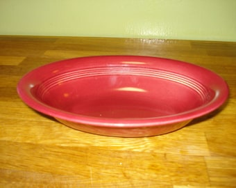 Homer Laughlin Harlequin Maroon Oval Baker