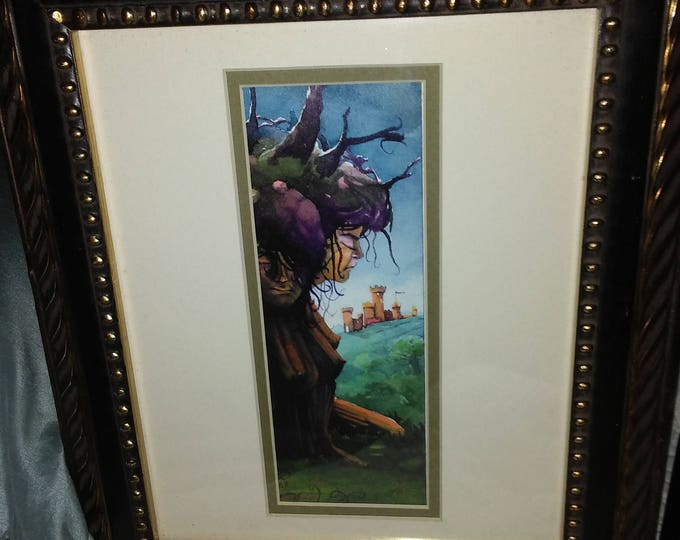 Browne Limited Edition Art Picture of Fictional Character, signed by artist, No. 7 or 25 , Matted and Framed, w/ Reduced Shipping