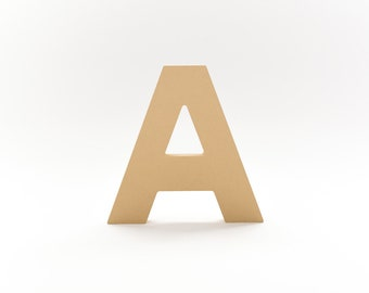 """English Block Letter, 8""""H x 1"""" Thick - Unfinished Wood"""