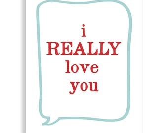 i REALLY love you, Love You Art
