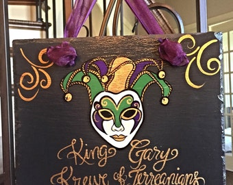 Mardi Gras Personalized Slate