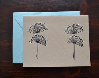 Blank Handmade Greeting Card