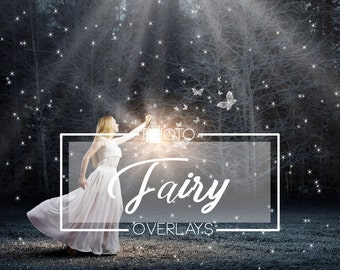 35 Fairy photo overlays, PNG overlays