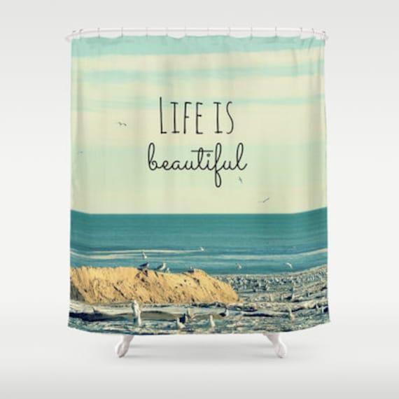Rideau de douche tissu la vie est belle photographie