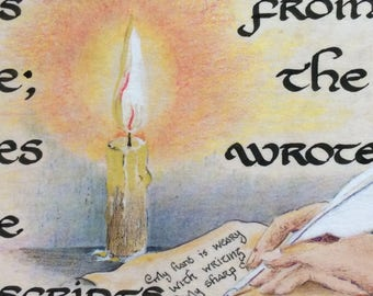 Celtic Calligraphy Print The Poet (The Book of Kildare)
