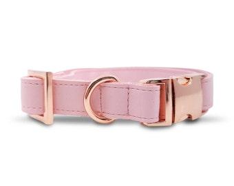 Blush Dog Collar in Rose Gold Hardware