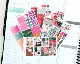 "Girl Boss/Holiday ""Make Today Count"" Themed Planner Stickers for Erin Condren, Kikki K, Filofax, Happy Planner, Websters Pages"