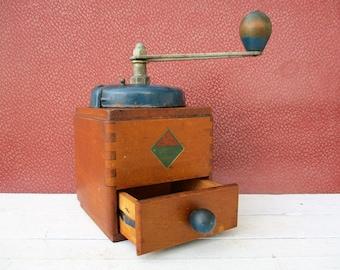 Vintage Coffee Grinder, Coffee Mill, Coffee Bean Grinder, Goldenberg Coffee Grinder, Gift For Coffee Drinker, Coffee Grinder
