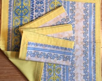 Set of 4  Handmade Cotton Cloth Napkins
