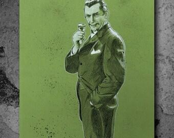 """Bela Lugosi White Zombie - Art Print """"13x19"""""""