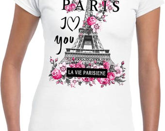 Paris.. I Love You.. DTG Printed Ladies Junior Fit T-Shirt..!