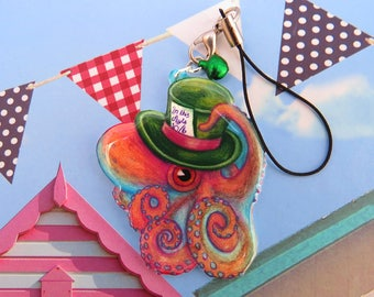 Mad Hatter Octopus | Cute Acrylic Charm