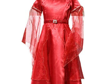 Red satin 10 years - Picanoc fairy costume