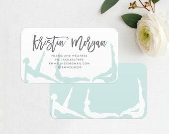 Yoga business card etsy yoga instructor or pilates instructor business card printed business cards pilates poses yoga colourmoves