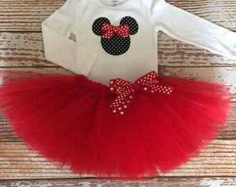 Minnie Mouse Tutu Set - Size 12M thru Size 5T
