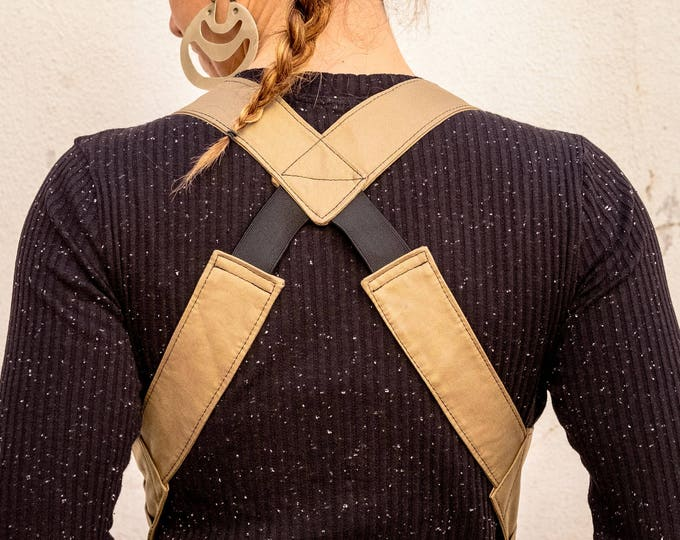 Kaki Body Wallet , Cotton Holster Bag, Festival Shoulder Holster, Pocket Vest