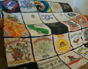 Custom T Shirt Memory Quilt Unlimited Items, Size, Payments Accepted with border