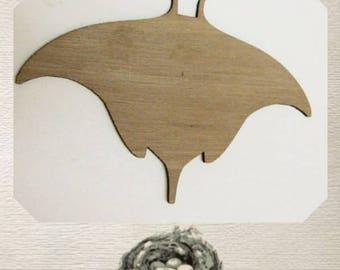 Sting Ray / Manta Ray / Ocean Wood Cut Out - Laser Cut