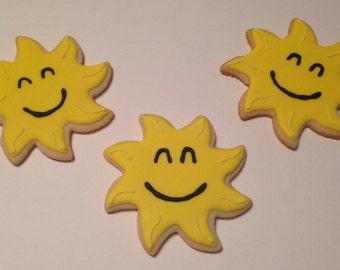 Smiling Sun Sugar Cookies