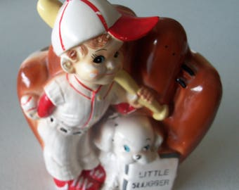 Vintage Little Slugger Floral Planter Japan