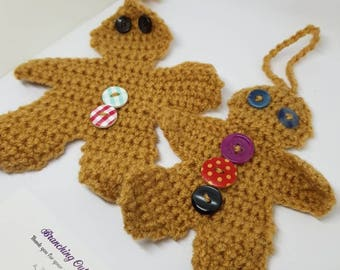 Handmade Crocheted Gingerbread men