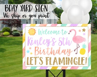Flamingo Birthday Sign, Flamingo Yard Sign, Flamingo Sign, Flamingle Sign, Flamingo Welcome Sign, Flamingo Party Sign, Flamingle Party Sign