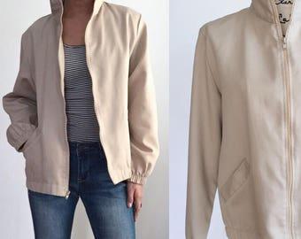 Vintage Minimalist Jacket, 80s Jacket, Vintage Jacket, Spring Jacket, Fall Jacket, 80s Blair Jacket