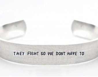 bracelet- charity bracelet- charity for soldiers- they fight so we dont have to