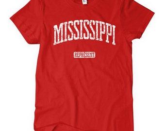 Women's Mississippi Represent T-shirt - S M L XL 2x - Ladies' Mississippi Tee, Mississippi Gift, Jackson Shirt, Gulfport Shirt, Southaven