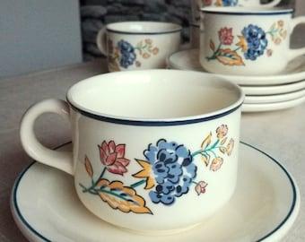 Camargue Porcelain Cup & Saucer, Made in Ireland