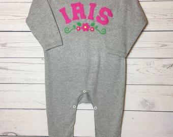 Baby Girl Personalised Romper Sleepsuit Gift