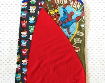 Tunic dress, Spiderman dress, Upcycle Dress, Superhero Dress, Kitty superheroes, birthday girl comic, Geek dress, spiderman girls
