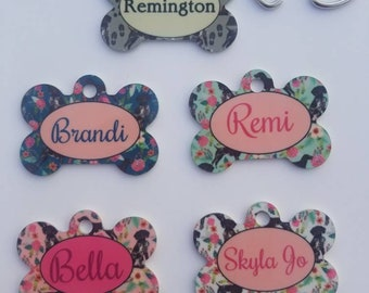 Personalized German Shorthaired Pointer ID tag.