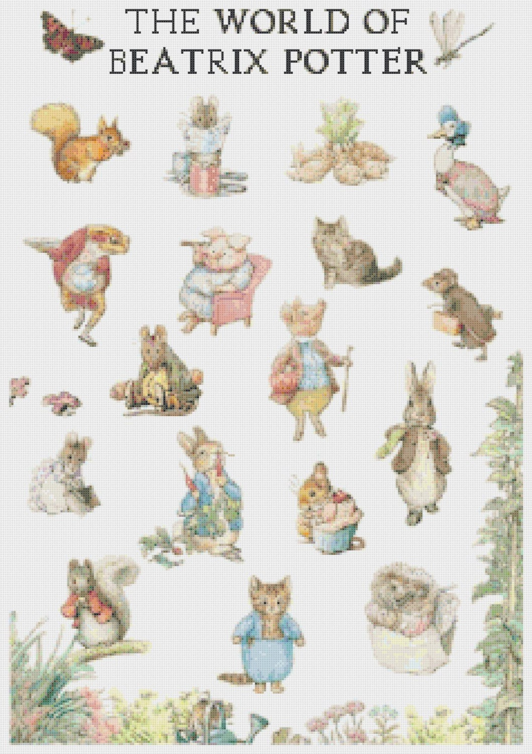 The world of beatrix potter - counted Cross Stitch Pattern chart pdf ...