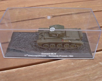 vintage diecast miniature tank cromwell mk iv 11th armoured division normandy (france)-1944