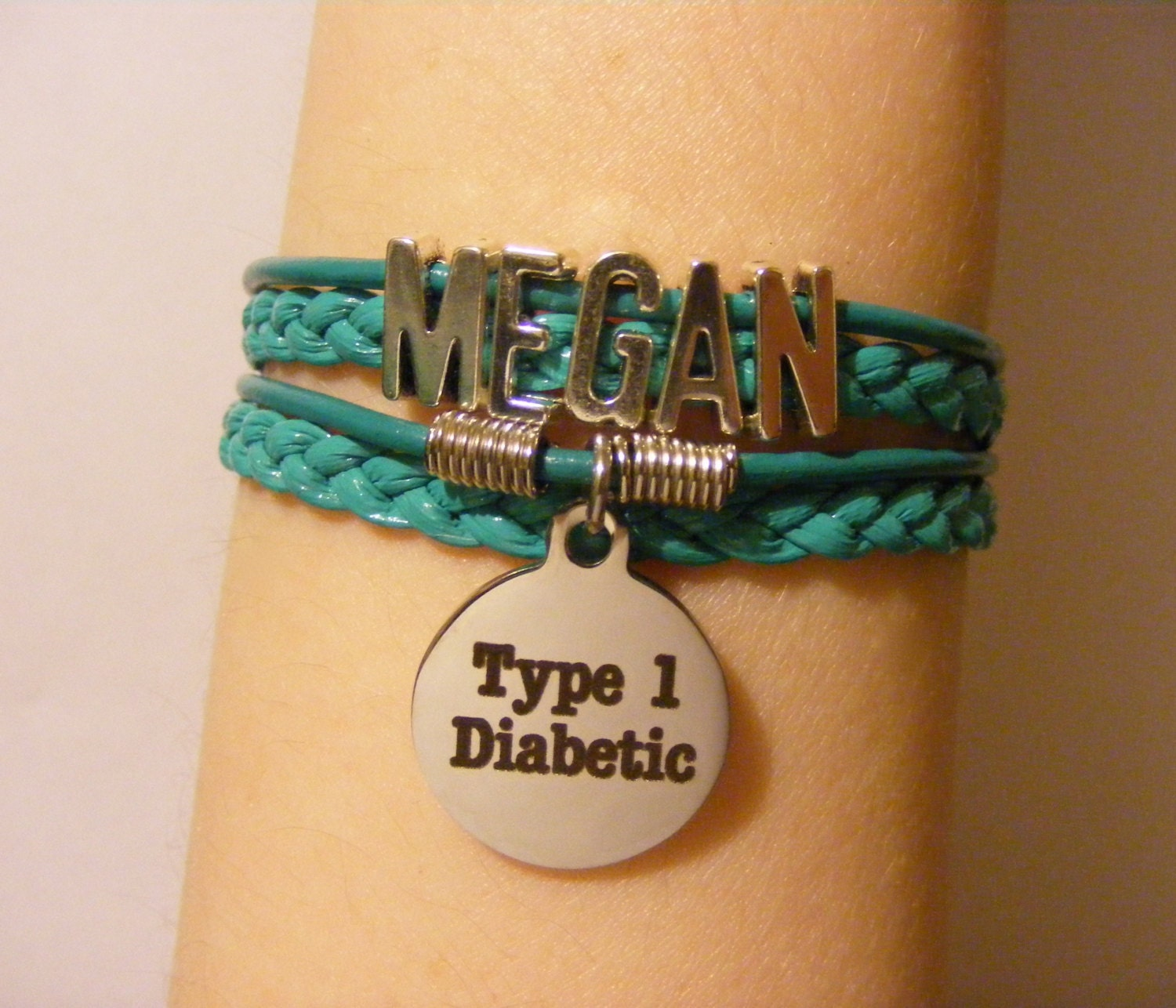 medical insulin pump diabetes type stainless product pre bracelet alert engraved