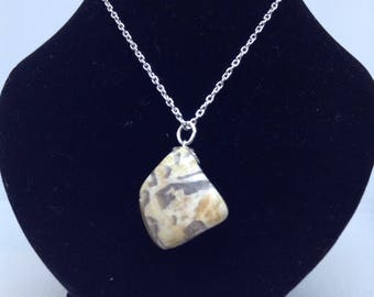 Tumbled Rock Pendant- Beige and Gray
