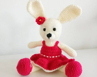 Girl Bunny Crochet Amigurumi