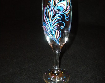 Hand Painted Champagne Flute