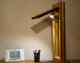 Desk lamp, woodmassive, high end