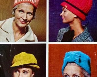 Vintage Hat Knitting Pattern - Patons 9434