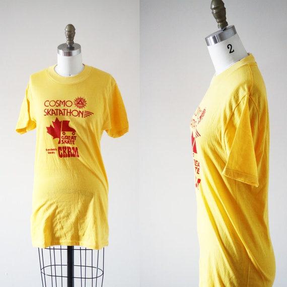 1970s vintage rollerskate t-shirt // 1970s Skate-a-thon t-shirt // vintage t-shirt