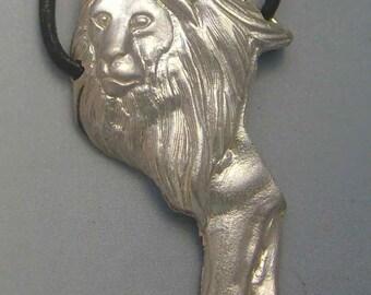 lion pendant amulet 925 sterling silver necklace charm