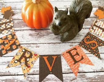 Harvest banner, Fall banner, Autumn banner, Halloween banner, Harvest home decor, Fall home decor, Halloween home decor, Autumn home decor,